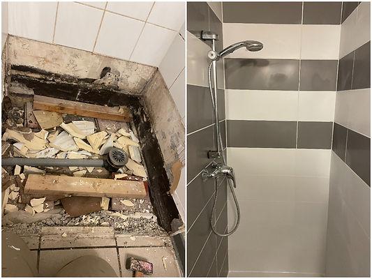 Avant/Après rénovation douche 1