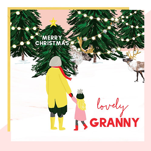 'Lovely Granny' Christmas Card