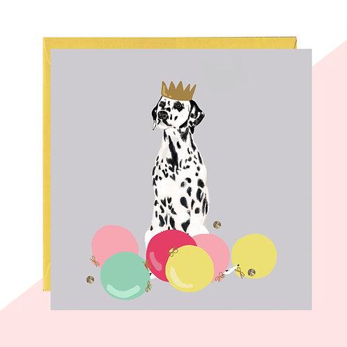 Party Dalmatian Card