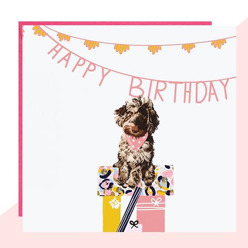 Cockapoo Present Pile Birthday Card
