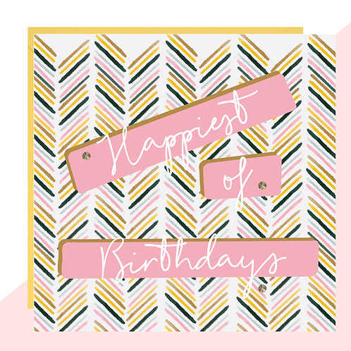 'Happiest of Birthdays' Card