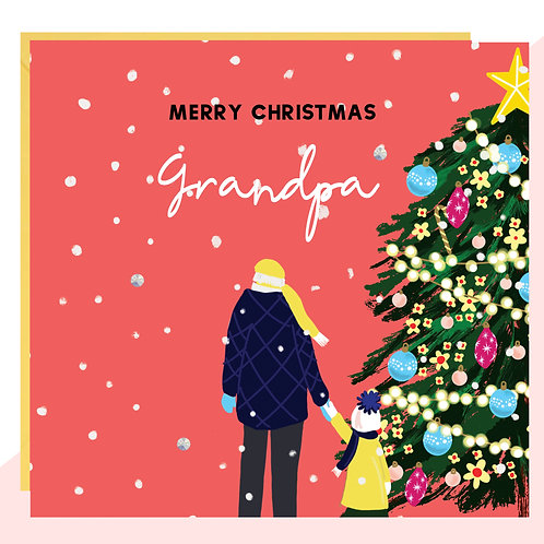 'Merry Christmas Grandpa' Card