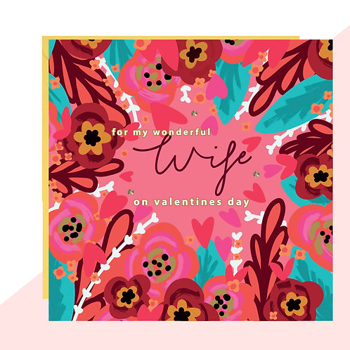 Wonderful Wife Valentines Card