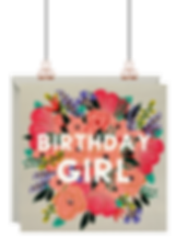 'Birthday Girl' Birthday Card by Lottie Simpson