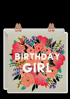 'Birthday Girl' Birthday Card by Lottie Simpson