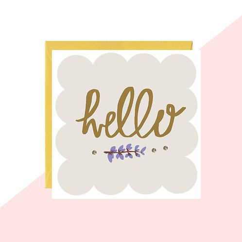 'Hello' Mini Card