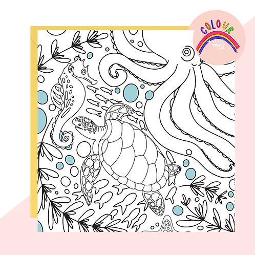 Colour + Send Under the Sea Card