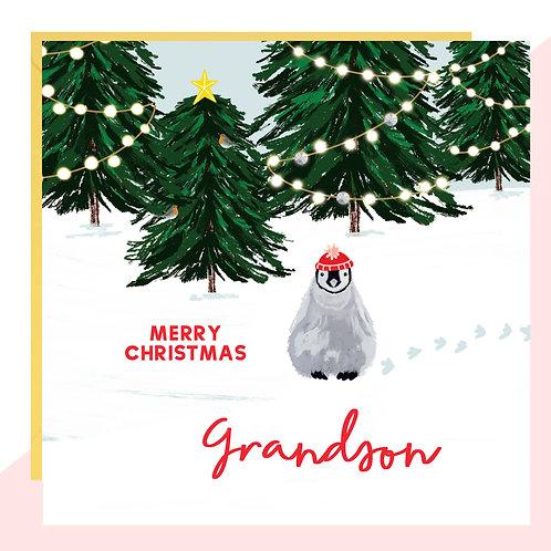 'Grandson' Penguin Christmas Card