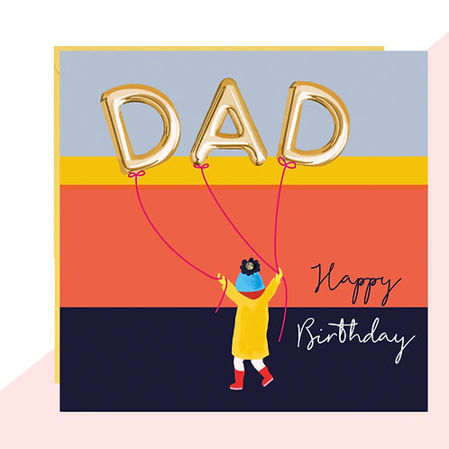DAD Balloons Birthday Card