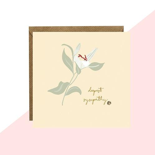 'Deepest Sympathy' Lily Mini Card