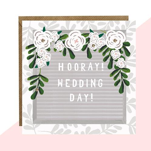 'Hooray! Wedding Day!' Message Board Card