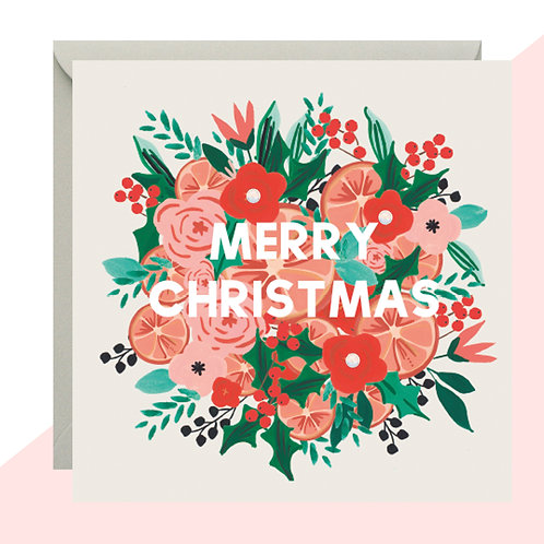 'Floral'PACK OF 5 Christmas Cards