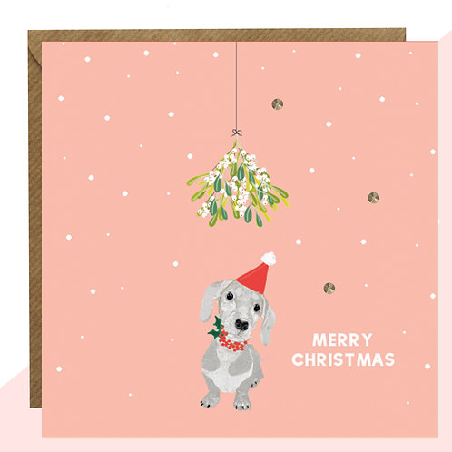 'Sausage Dog' PACK OF 5 Christmas Cards