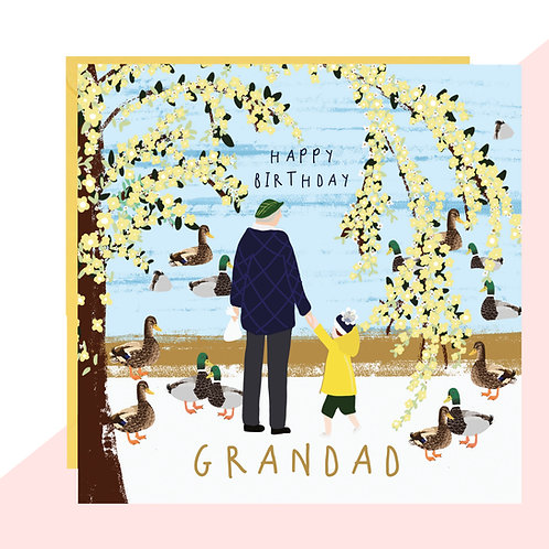 'Grandad' Feeding the Ducks Birthday Card