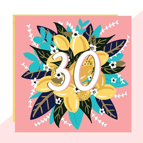 30th Birthday Floral Card