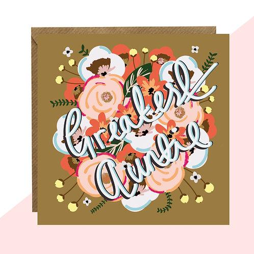 'Greatest Auntie' Card
