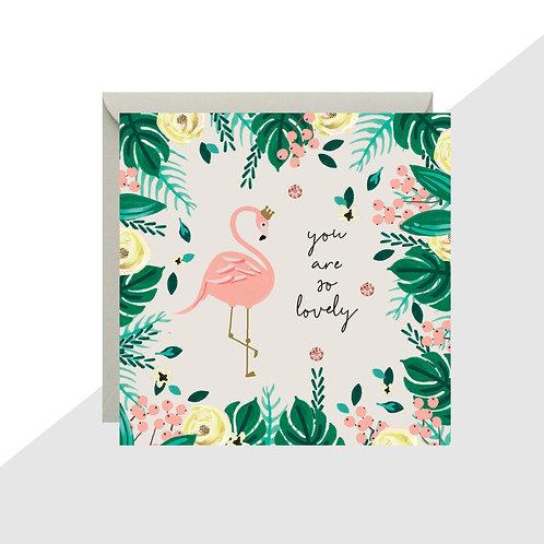 'You are so Lovely' Flamingo Mini Card