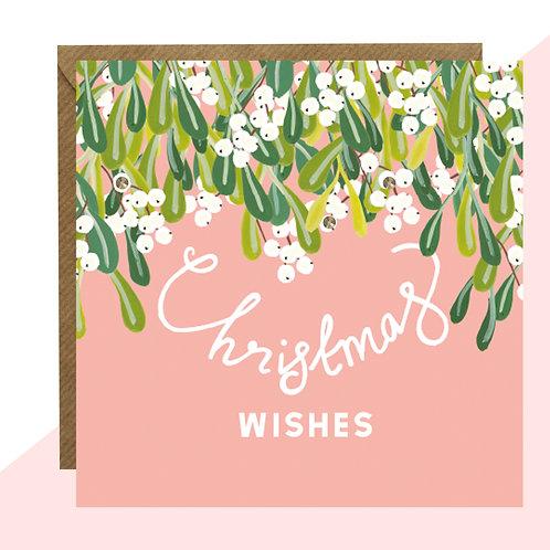 'Mistletoe' PACK OF 5 Christmas Cards