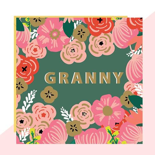 Floral 'Granny' Card
