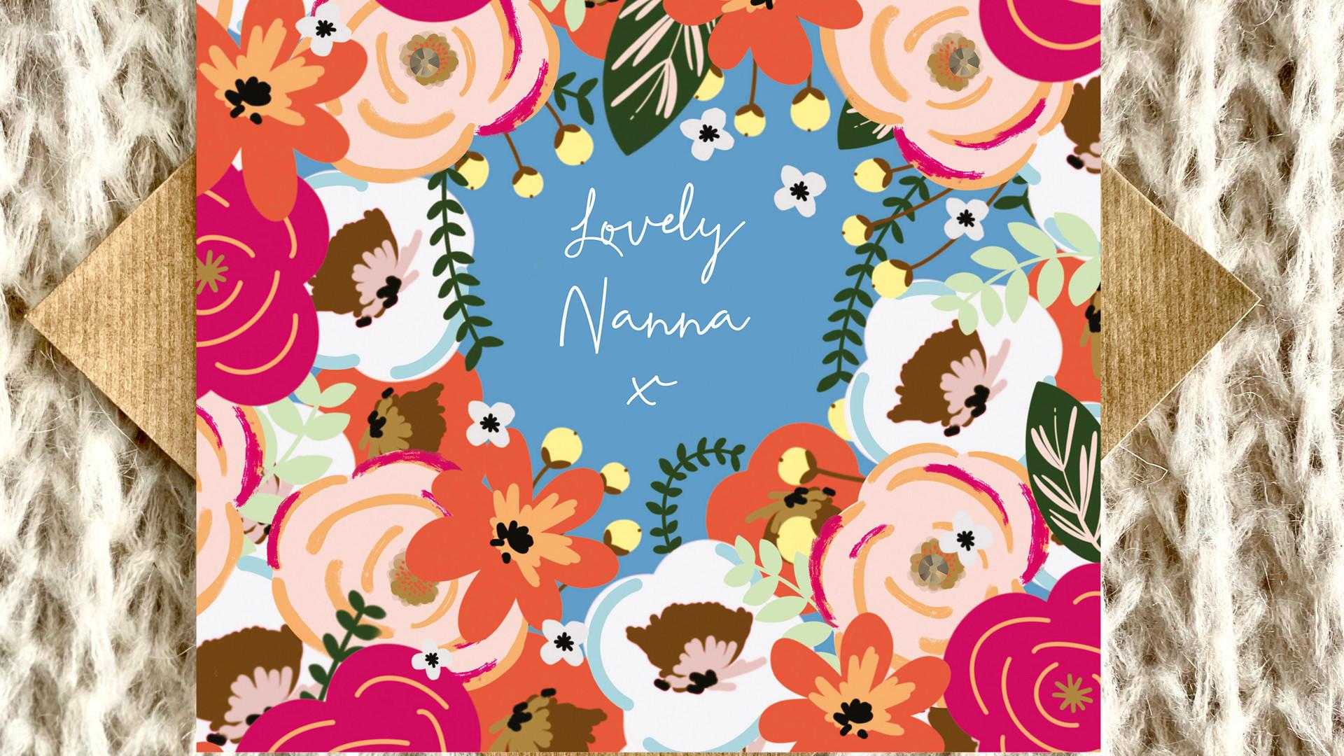 Lovely Nanna Birthday Card