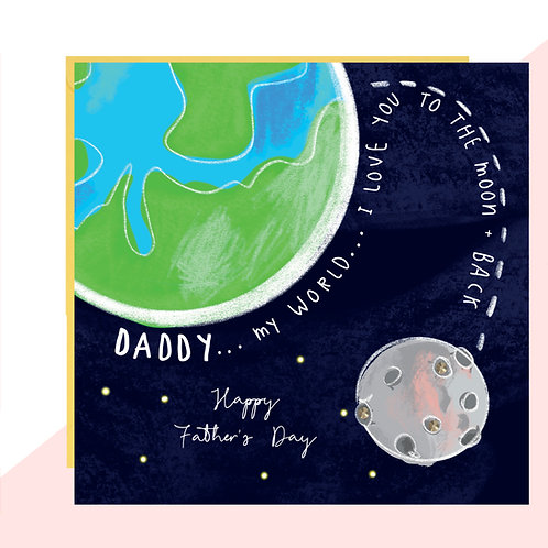 Moon & Back Father's Day Card