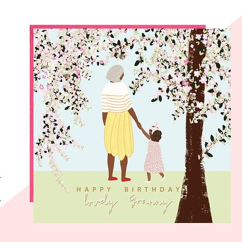 'Happy Birthday Granny' Blossom Card