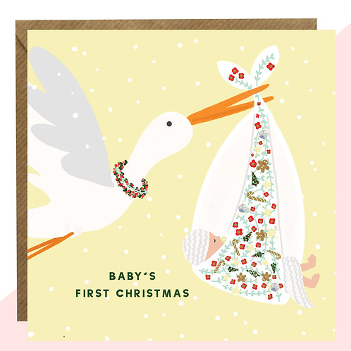 'Baby's First Christmas' Card