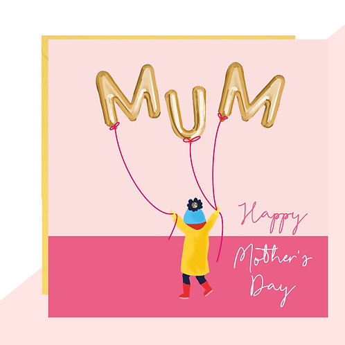 Mother's Day 'MUM' Balloon Card
