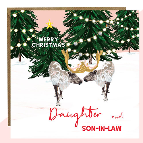 'Daughter And Son In Law' Christmas Card