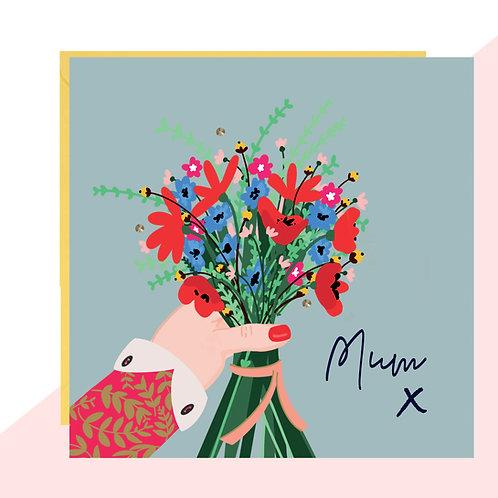 Bouquet For Mum Card