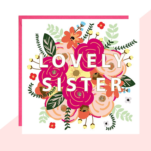 'Lovely Sister' Card