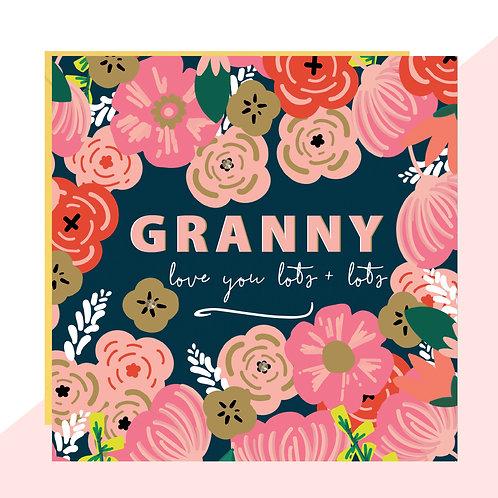 Floral 'Granny Love' Card