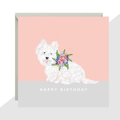 'Happy Birthday' Westie Card