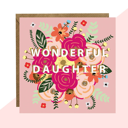 'Wonderful Daughter' Card