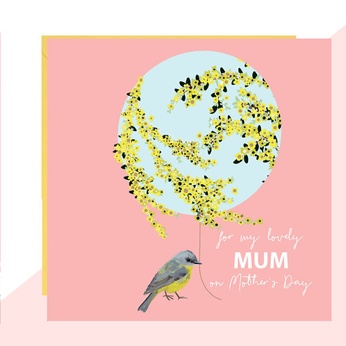 Bird & Balloon Mother's Day Card