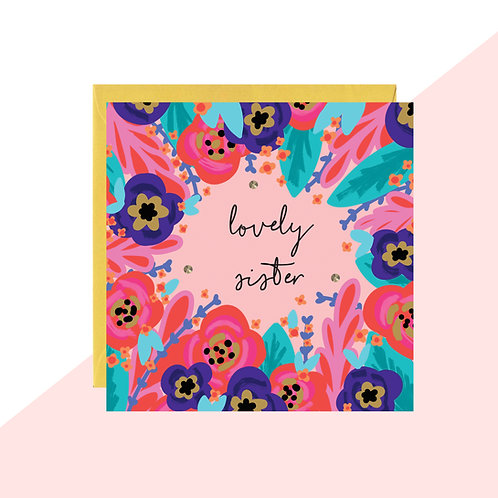 'Lovely Sister' Mini Card