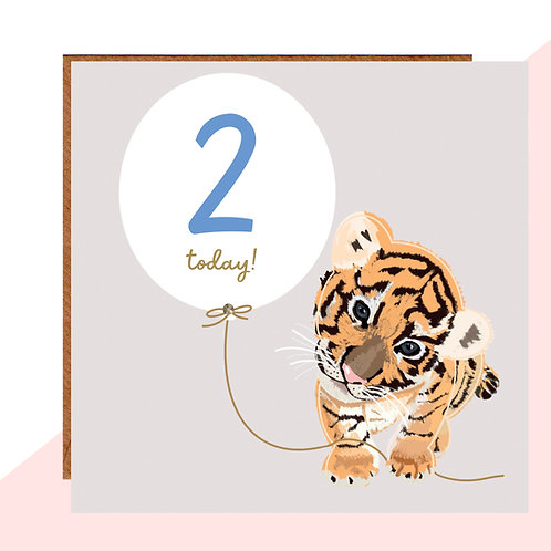 2nd Birthday Tiger Cub Card