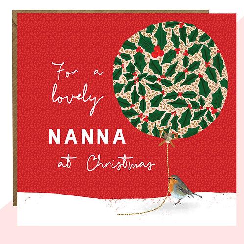'Lovely Nanna' Christmas Card