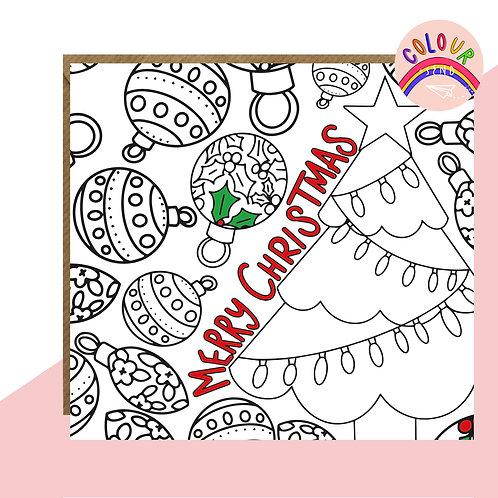 Colour + Send 'Tree' Christmas Card