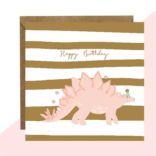 'Happy Birthday' Stegosaurus Card