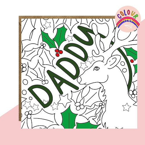Colour + Send Daddy Christmas Card