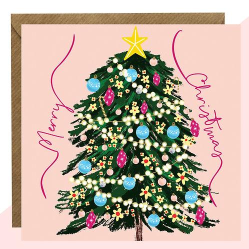 'Merry Christmas' Tree Christmas Card