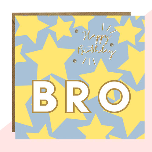 'Happy Birthday Bro' Star Card