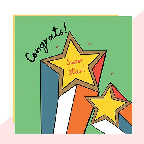 Congrats Super Star! Card