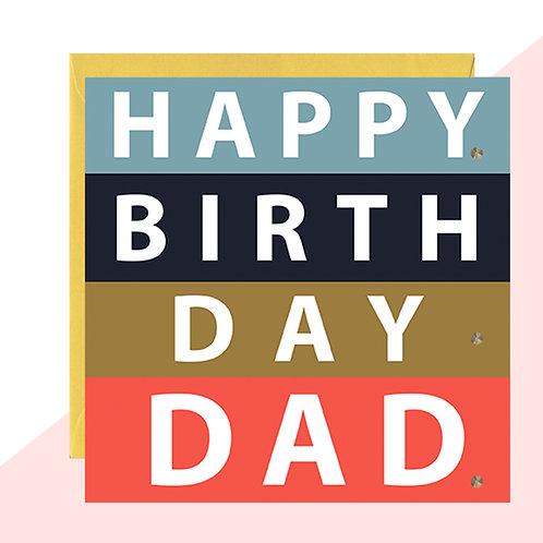 'Happy Birthday Dad' Bold Card