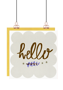 'Hello' Greeting Card by Lottie Simpson