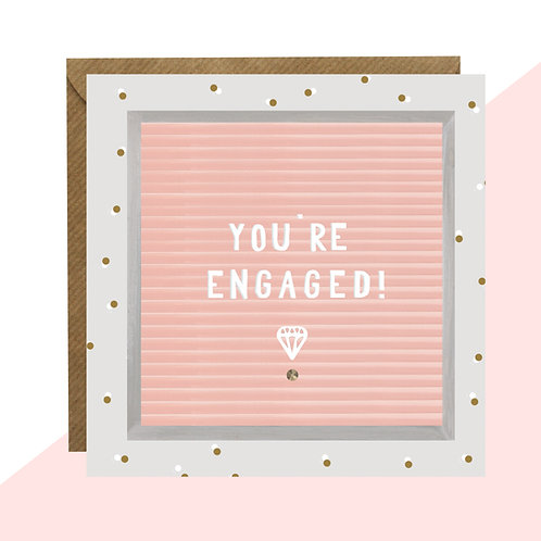 'You're Engaged!' Message Board Card
