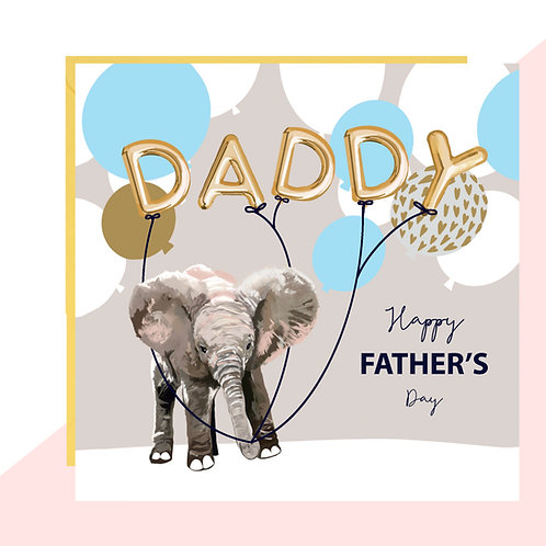 'DADDY' Balloons Father's Day Card