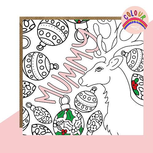 Colour + Send Mummy Christmas Card