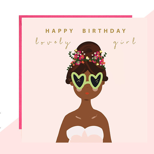 'Lovely Girl' Birthday Card